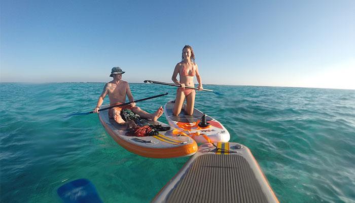 paddle boarding