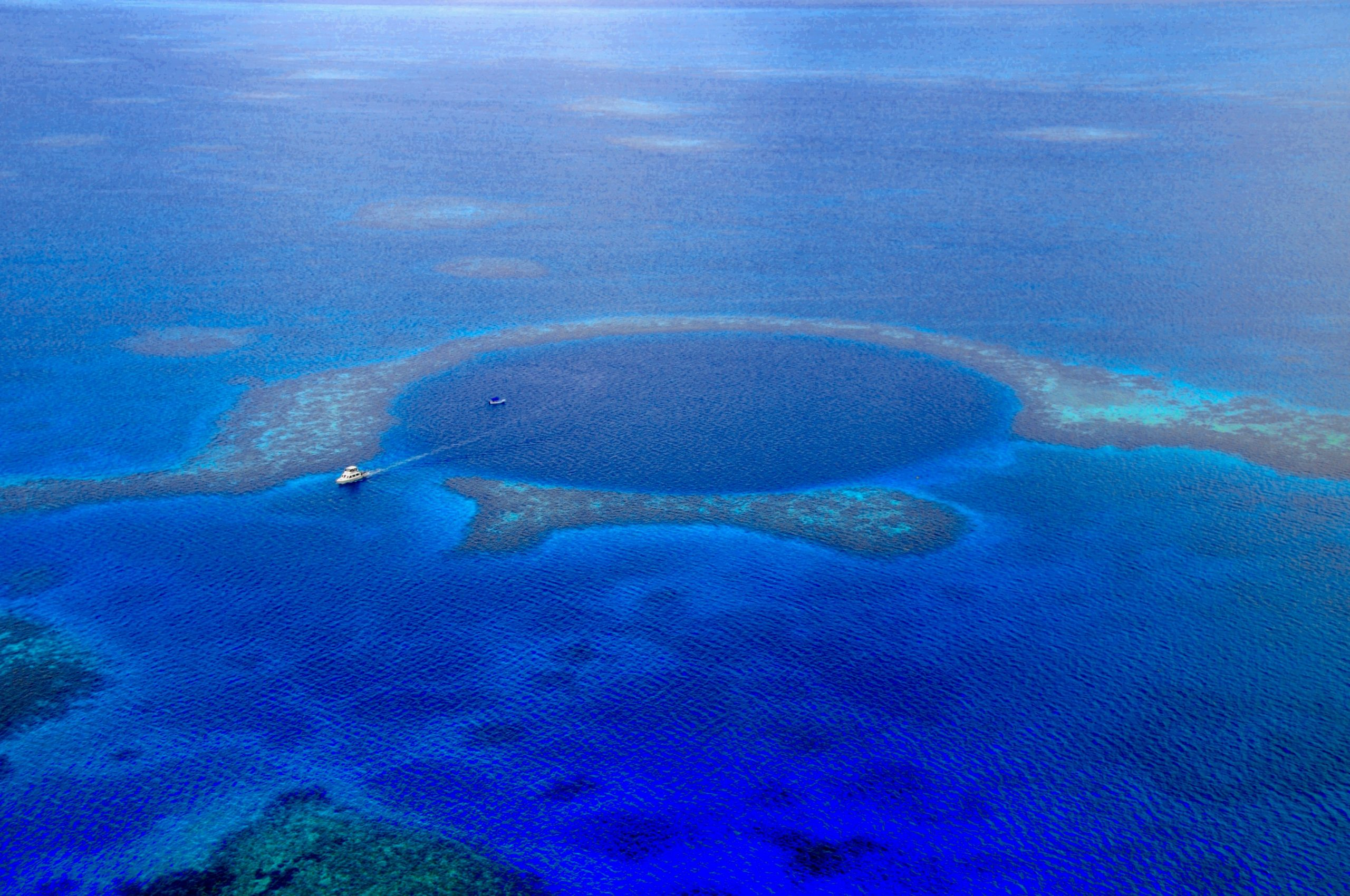 Belize BlueHole from the SKY
