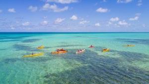 Kayaking at Glover's Reef Atoll in Belize