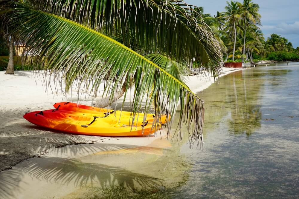 Kayaks on the Beach - Ambergris Caye, Belize