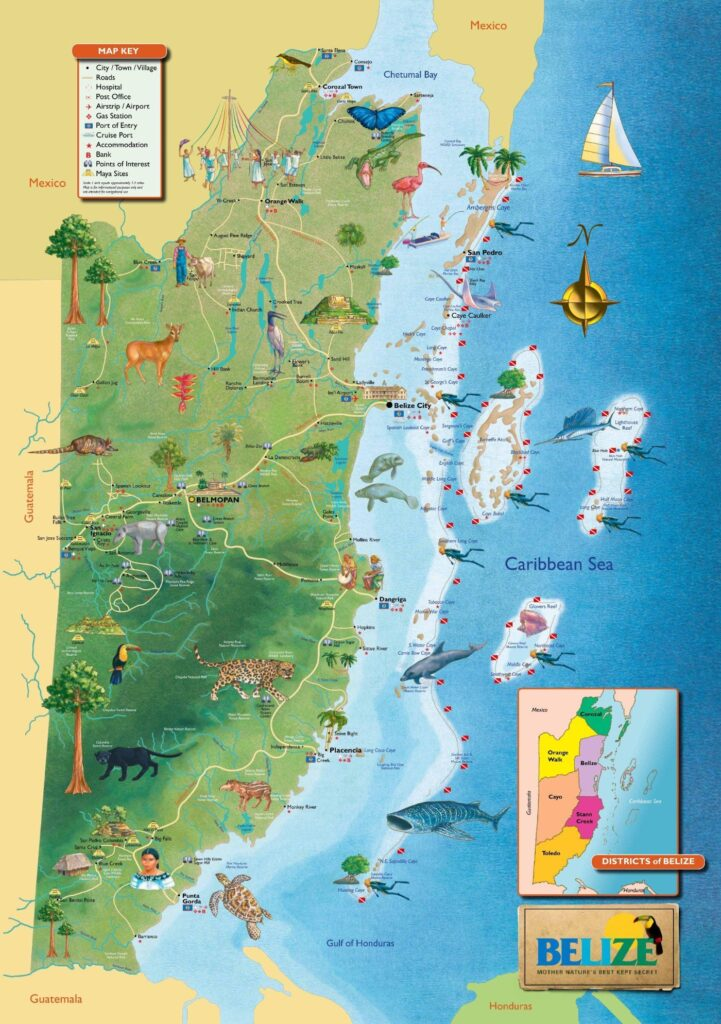 belize of map